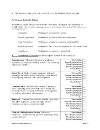 Hotel Housekeeping Supervisor Performance Appraisal