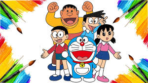 Doraemon (1979) ドラえもん / ドラえもん (1979). Coloring Page Doraemon And Friends Animation Cartoon For Children Drawing And Coloring Youtube