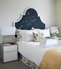 ... Transitional Bedroom With A Chalkboard Paint Headboard [Design: I3  Design Group]