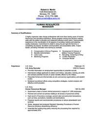 human resources military transition resume sample military resume example