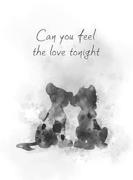 Can You Feel The Love Tonight Art Print The Lion King Quote Song Nursery Gift Wall Art Home Decor Black And White