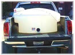 RH: Pickup Truck WATER TRANSPOR TANKS. Pressure Washer Water Tanks