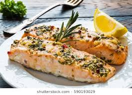 cooked fish images. Perfect Fish Salmon Roasted In An Oven With A Butter Parsley And Garlic Portion Of  Cooked For Cooked Fish Images