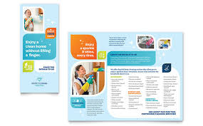 brochure template cleaning services brochure template design
