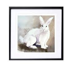 watercolor rabbit wall art child rabbit