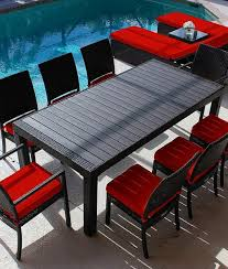 modern pc outdoor red patio modern pc outdoor red wicker furniture set