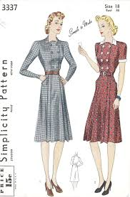 1940s Dress Patterns Interesting 48S Dress Patterns Free 48s Misses Tailored Dress Vintage