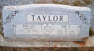 Ford O. Taylor and Rosa Lee Hagins Taylor