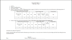 Transition Forms Tran 1 Tran 2 Format Due Date How To Claim Itc