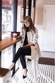 25 fall work outfit with a trench coat