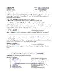 Vaseem Ansari SSE Resume 40 Years Working Experience In PHP MySql JQ Inspiration Mysql Resume
