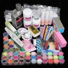 Amazon.com: 42PC Acrylic Powder Nail Art Tips Starter Kit: Beauty