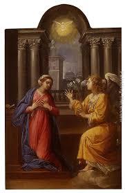 the annunciation painting giuseppe cesari the annunciation art painting