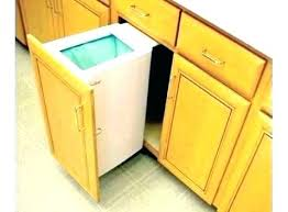 Trash Bin Cabinet Can Insert Local Kitchen Concept Endearing  Pull Out Built In Cans42