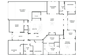 simple one story floor plans. Delighful Plans Modern Luxury House Plans Simple One Story 4 Bedroom Single With Small  Double South Africa Intended Floor O