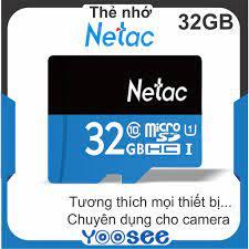 Thẻ nhớ SD micro NETAC 32GB Class 10 - Bảo hành 5 năm