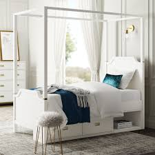 Greyleigh Tazewell Twin Canopy Bed with Storage Drawer Unit | Wayfair
