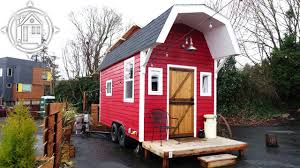 Small Barn Designs Adorable Barn Shaped Tiny House With Space Saving Design