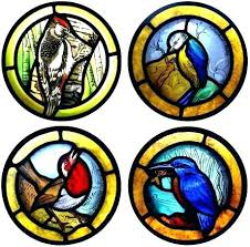 stain glass birds on a wire stained bird pattern gl