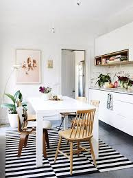 decorating with rugs idea rectangle rug under dining table
