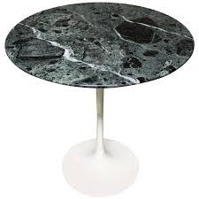 eero saarinen tulip side table for knoll with verdi alpi green marble top for