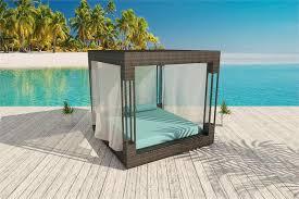 acrylic outdoor furniture. euphoria wicker canopy bed shown in bronze viro with cushions oceana acrylic outdoor furniture o