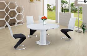 stylish ideas round white gloss dining table white highoss dining room table and chairs black round