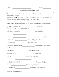 Prepositions in Context Worksheet | Kids - Homework | Pinterest ...