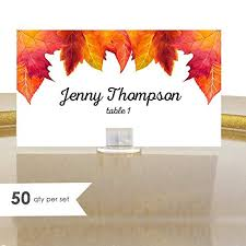 Fall Place Cards Amazon Com Autumn Place Cards Fall Leaves Place Cards 50