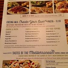 Make A Menu For A Restaurant Create Your Own Menu Picture Of Olive Garden Lynnwood