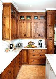 honey oak kitchen cabinets elegant rustic cabinet with quartz countertops remodel