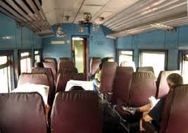 2nd cl seating on a sri lankan train