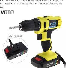 Máy khoan vặn vít dùng pin không dây VOTTO mới 21v tốc độ gấp đôi dụng cụ điện  dùng pin Máy khoan vặn vít.