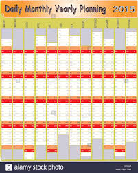 Daily Planners 2015 2020 Vector Of Planning Chart Of Daily Monthly Yearly 2015 Stock