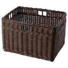 GABBIG basket, dark brown Width: 11