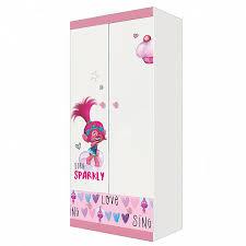<b>Шкаф двухсекционный Polini kids</b> Fun 890 Тролли, розовый ...