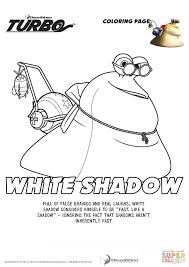 Small Picture White Shadow from Turbo coloring page Free Printable Coloring Pages