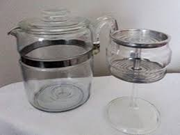 Coffee percolator glass can offer you many choices to save money thanks to 17 active results. Amazon Com Vintage Pyrex Flameware Percolator W Glass Stem And Basket Coffee Pots Kitchen Dining