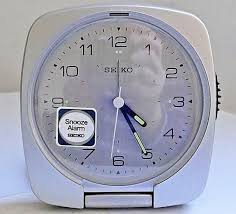 seiko travel alarm clock qxt017at boxed unused immaculate