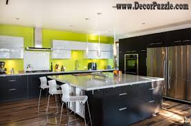 image modern kitchen. Mid Century Modern Kitchen, Black And Yellow Kitchen Design Image