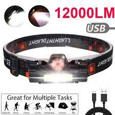 <b>Outdoor Camping Portable</b> Mini COB <b>LED Headlamp</b> USB Charging ...