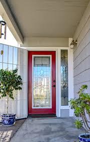 glass door insert into a exterior door