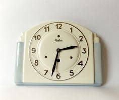 vintage art deco style 1930s ceramic kitchen wall clock junghans made in germany on art deco wall clock antique with 87 best vintage wall clocks images on pinterest antique clocks