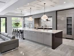 modern kitchens. Designer Thu Vu Uses Simplified Mouldings And Trim To Create Coffered Ceilings With Shallower Cross Beams Help Soften The Appearance Of A Modern, Modern Kitchens E