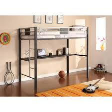 Image Double Dhp Black Screen Twin Metal Loft Bed With Silver Accents Home Depot Dhp Black Screen Twin Metal Loft Bed With Silver Accents5461096