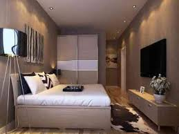 Small Picture Bedroom Design With Sliding Wardrobe And Lcd Art Wall Id979