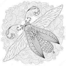 татуировки хной мехенди стиль Doodles бабочка стоковое фото