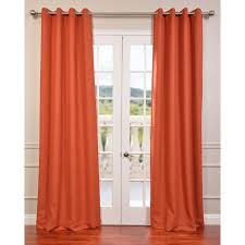 persimmon 84 x 50 inch bellino grommet blackout curtain single panel half
