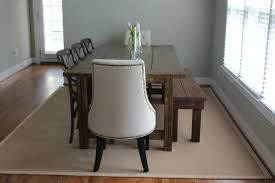 Dining Room:Simple Dining Room With Cream Rug On Wooden Floor And Restoration  Hardware Dining