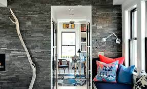 grey natural stone veneers used on a feature wall interior faux stone wall panels uk interior